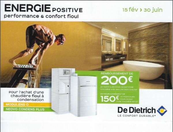 De Dietrich rembourse jusqu'à 200 Euros
